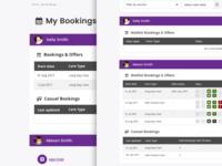 My Bookings UI