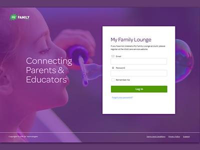 Childcare App Redesign childcare login