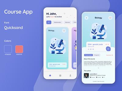 CourseApp learning app learning design course app course ui mobile app