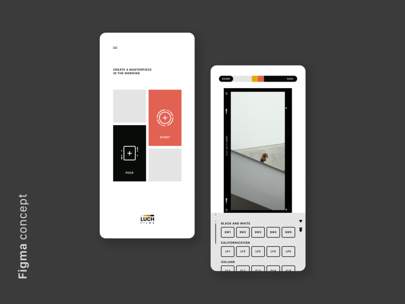 LUCH — Filters & Bokeh Effect (Figma Concept) appdesign ios mobile figma userexperience userinterface ux uiux app ui