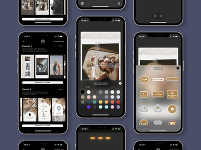new vostok app / new ui / new stickers / new collections uxdesign appstore stories instagram photoeditor design ios userexperience userinterface uiux ux app ui