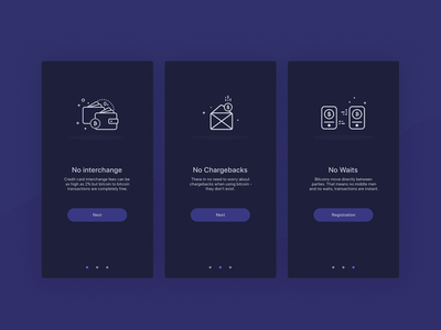 Onboarding Screens for Bitwallet
