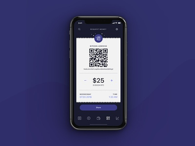 Request Money. Bitwallet