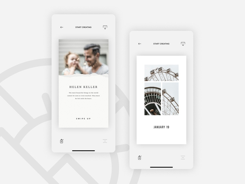 Vostok — create stories instagram stories apple xcode design figma ios appdesign mobile userinterface userexperience uiux app ux ui