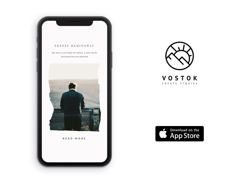 Vostok — create stories frame snapchat instagram stories insta userexperience figma ios appdesign userinterface app uiux ux ui