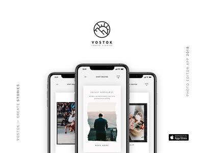 Vostok — create stories storytelling stories instagram design figma ios mobile appdesign userinterface userexperience uiux app ux ui