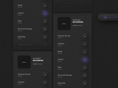 Music App, UI Trend 2020. Neumorphism player neumorphism neumorphic music figma appdesign userinterface userexperience uiux app ux ui