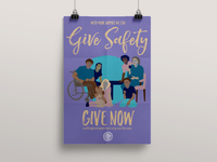 Give Safety Poster for Wellington Rape Crisis
