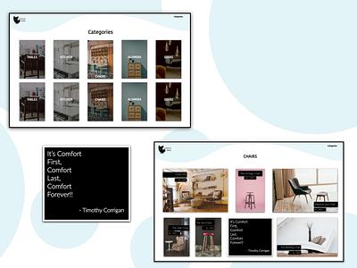 furniture category ui design