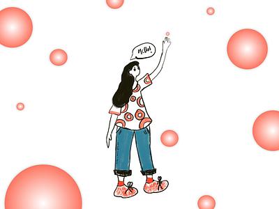 pilot art 2d design girl illustration