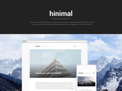 hinimal - minimal WordPress theme