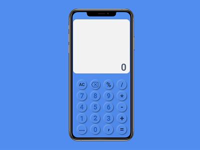 Neumorphic Calculator for iPhone mockup iphone 11 pro iphone design daily 100 challenge dailyui calculator soft design neumorphism