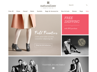 Naturalizer Homepage Concepts