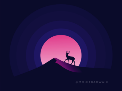 ALONE💜 freelance logo mountain landscape new adobeillustrator flatdesgin animal