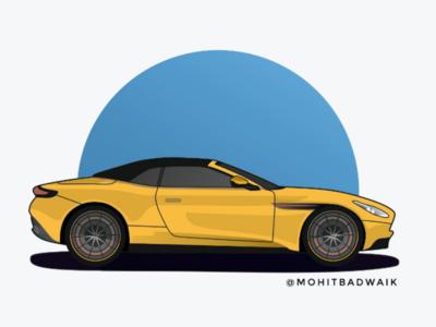 Aston Martin illustrator new astonmartin newdesign vectorartwork design car adobeillustrator supercar