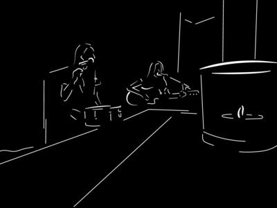 Digital Illustration for Deer Park Avenue promotional material outlines black and white acoustic vector image line art promotion social media illustration art illustrator design band rock music graphic design minimalist design minimalistic art minimalist