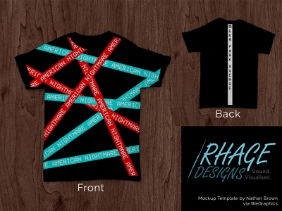 Merch Design for Weekly Warmup tshirt red blue mockup photoshop band rock music graphic design merchandise design merch design design dribbble dribbbleweeklywarmup merchandise merch