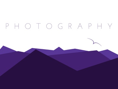 Photography nature mountain minimalist purple dribbbleweeklywarmup adobe illustrator illustration illustrator adobe design graphic design