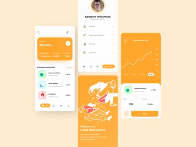 Mutual Funds App - Hello Investment mobile ui mobiledesign mobile app mobile ux uiuxdesign uidesign ui design