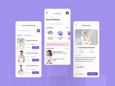 Health & Care App Design mobile ui mobiledesign mobile app mobile ux uiuxdesign uidesign ui design