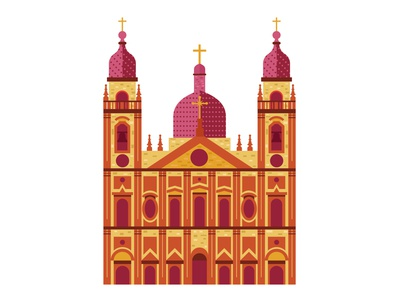 Cathedral church flat illustration vector cathedral