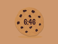 Chocolate Chip Cookie Watch Face