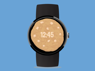 White Chocolate Chip Cookie Watch Face cookiejar chocolate moto 360 android wear android watchface cookie