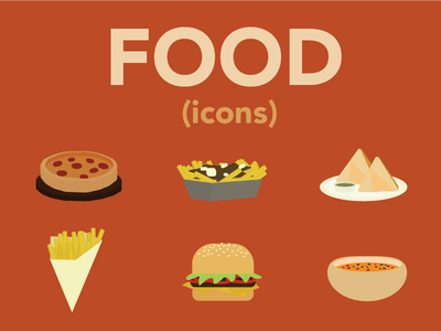 Food Icons flat iconset icons food
