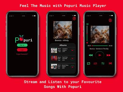 Popuri Music Player app design ux ui