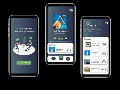 Tree House Podcast App minimal app ux ui design