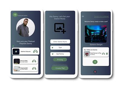 Tree House Podcast Hosting app ux ui design