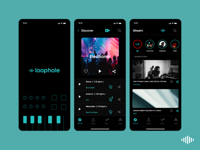 Loophole - Mobile UI Design website minimal app ux ui design