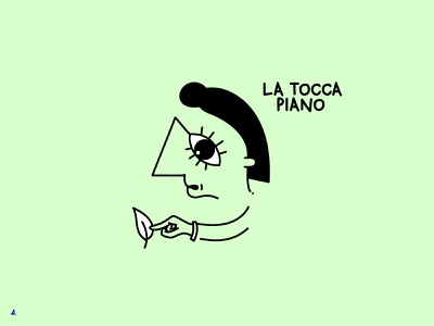 La tocca piano | Modi di dire Serie eyes modididire funny graphic character design vector illustration drawing