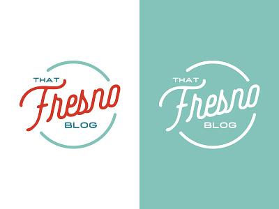 That Fresno Blog Logo blog branding logo