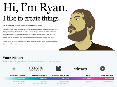 RyanHefner.com - About personal site