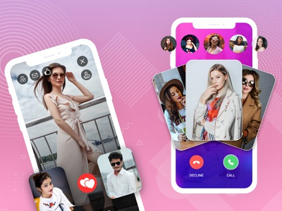video call app ui video chat chat app video uidesign app design ui videocall