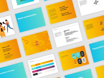 Brand guidelines for office brand brand guidelines brand guide brand design brand creation blue yellow ui colorful logo design logo brand identity branding