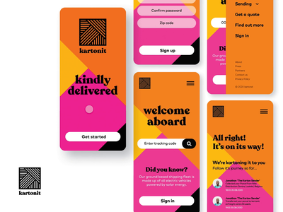 kartonit mobile ui onboarding adobe xd colorful app design mobile design app mobile ui ui design ux ui brand design