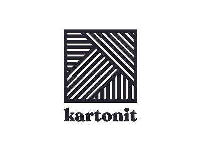 Approved kartonit Parcel Delivery Logo logofolio black  white woven negative space logomark monogram logo brand identity brand design branding logo design logo