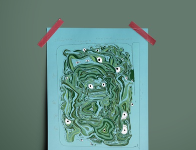 Frog Illustration abstract illustration art poster art poster animals illustrated design illustration