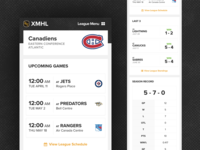 Sports League Management - Mobile View