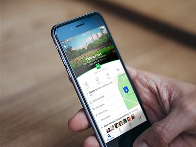 Foursquare Venue Page ios iphone app foursquare 4sq green ui ux venue device