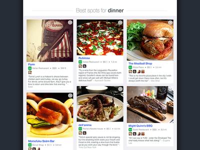 Foursquare iPad Homescreen to Search ios app ui ux ipad discovery explore white blue photos