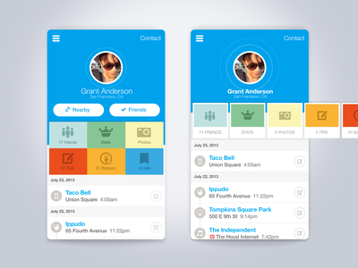 Oldschool Profile profile blue iphone ux ui app ios foursquare