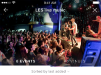 Lists  detail events