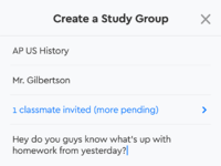Groups  create