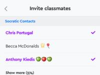 Groups  invite
