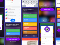Socratic: Groups color dark education groups homework ios fun mobile light teens ui ux