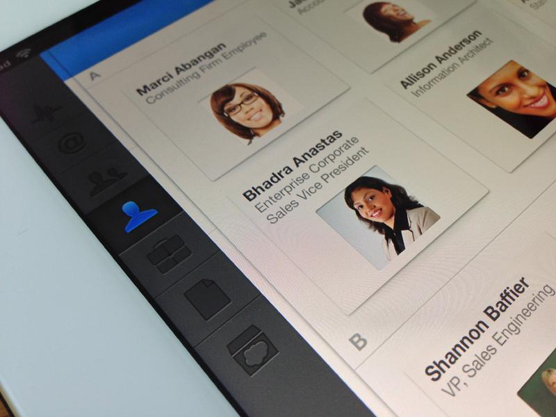 People ios salesforce ipad grid people app device enterprise tablet ui ux light dark