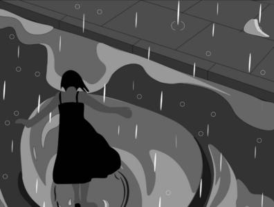 Rain in the gray illustrator branding vector design adobe illustrator